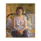 Woman on a Bed Giclee Print by Harold		 Gilman