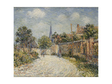 The Village Street Art by Gustave		 Loiseau