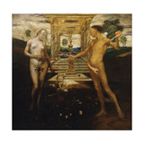 Adam and Eve Giclee Print by Friedrich		 Stahl