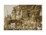 Bruhma Ghat, Benares Prints by James		 Prinsep