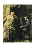 At the Piano Giclee Print by Emma		 Sparre