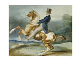 A Rider and His Rearing Horse Prints by Théodore Géricault