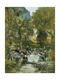 Washers on the Bank of the River Giclee Print by Eugène Boudin