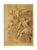 Soldiers Destroying a Bridge Giclee Print by Peter Paul		 Rubens