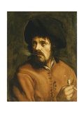 A Man Smoking a Clay Pipe Giclee Print by (attributed to) Jan Cossiers