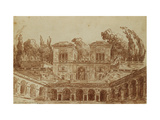 The Villa Farnese, Rome Giclee Print by Hubert		 Robert