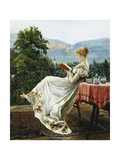 On the Terrace Premium Giclee Print by Johann		 Hamza
