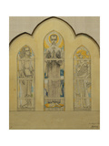 St. Alogsius Chapel Window Design - Saint Alogsius, Johannes and Mary Magdalen Giclee Print by Jan		 Toorop