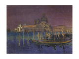 Nocturne : The Dogana and Santa Maria della Salute, Venice Prints by Walter Richard Sickert