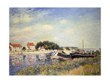 Banks of the Loing at Saint-Mammes Affiches par Alfred		 Sisley