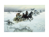 The Sleigh Ride Giclee Print by Jaroslav Friedrich Vesin