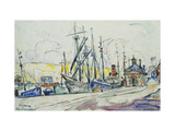 The Port at Fecamp Poster by Paul		 Signac