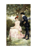 A Courting Couple Giclee Print by Jules Arsene		 Garnier
