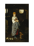 The Farm Girl Giclee Print by F.		 Ducale
