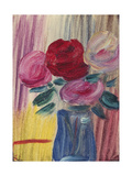 Flowers in Blue Vase Posters by Alexej Jawlensky