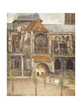 Portal of the Church of the Saint-Jaques in Dieppe Prints by Camille Pissarro