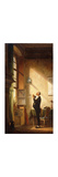A Writer Sharpening his Quill Premium Giclee Print by Carl		 Spitzweg