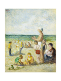 On the Beach in Normandy Poster by Maximilien		 Luce
