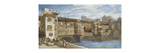 The Ponte Vecchio, Florence Premium Giclee Print by William		 Callow
