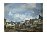 Limerick: Charlotte Quay and George's Quay, Matthew Bridge and the Customs House Giclee Print by William Turner Lond