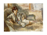 Woman on a Couch; La Dame au Canape Giclee Print by Jules		 Pascin