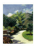 Girl in a Garden, Le Pradet Prints by Henri Lebasque