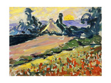 Landscape at Sunset Prints by Henri Edmond		 Cross