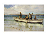 Hauling in the Catch Premium Giclee Print by William Henry		 Bartlett