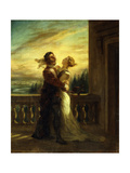 The Farewell of Romeo and Juliet Print by Ferdinand Victor Delacroix