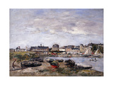 Trouville: View toward Deauville on Market Day Giclee Print by Eugène Boudin