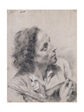 An Astronomer Holding a Book and a Telescope, Looking up to the Right Giclee Print by Giovanni Battista		 Piazzetta