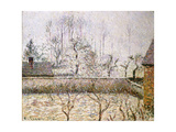 Landscape with Frost and Mist, Eragny Prints by Camille Pissarro