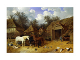 The Artist's Farmyard at Meopham, Kent Premium Giclee Print by John Frederick Herring I