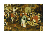 A Peasant Wedding Feast Poster