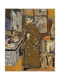 Mme Vuillard dans un Interieur Prints by Edouard Vuillard