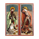 Saint Martin and the Beggar; and Saint George and the Dragon - the wings of an altarpiece Giclee Print by (circle of) Johann Koerbecke