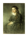 Portrait of a Young Girl, seated three quarter length Giclee Print by Anna		 Walt