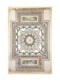 Design for the Library Ceiling at Woburn Abbey Giclee Print by Sir William		 Chambers