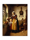 Grandmothers Green Thumb Giclee Print by Heinrich		 Wilhelm