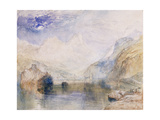 The Lauerzersee with Schwyz and the Mythen Posters by Joseph Mallord William		 Turner