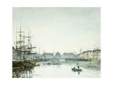 Le Havre, Le Bassin du Commerce Posters by Eugène Boudin