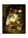 Still Life with Assorted Flowers Print by Josef		 Holstayn