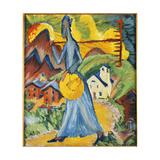 Alpleben, Triptych Posters by Ernst Ludwig Kirchner