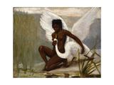 Diana Bathing Giclée-Druck von Jacques Fernand Hymbert
