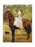 Woman in White Riding a horse Poster by Max		 Slevogt