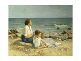 On the Beach Premium Giclee Print by Hermann		 Seeger