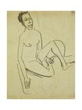 Nude Boy Lámina giclée por Ernst Ludwig Kirchner