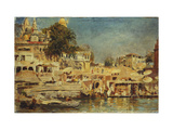 View of the Ghats at Benares Giclee Print by Weeks Edwin Lord