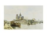 La Quai de la Tournelle, Paris Giclee Print by Guillermot C.T.
