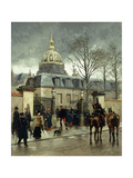 Outside Les Invalides, Paris Giclee Print by Jean Baptiste Edouard		 Detaille